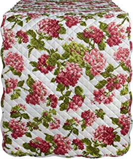 Waverly Rolling Meadow Red Quilted Fabric Table Runner, 70