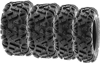 SunF ALL TERRAIN ATV UTV 6 Ply Race Tires 22x7-12 & 22x10-12 Tubeless A033 POWER I, [Set of 4]