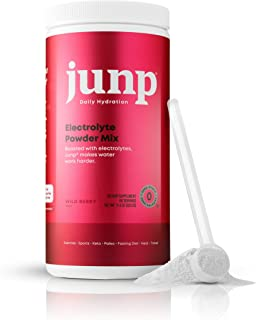 JUNP Hydration Electrolyte Powder, Electrolytes Drink Mix Supplement, Zero Calories Sugar and Carbs, Kosher, Wild Berry Fl...