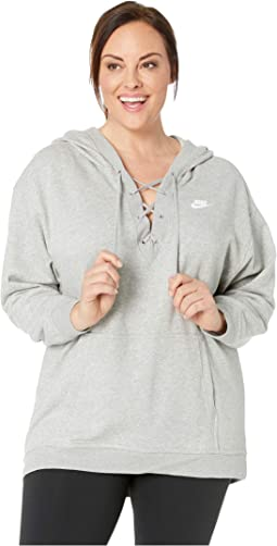 Plus Size NSW Club Hoodie Lace-Up