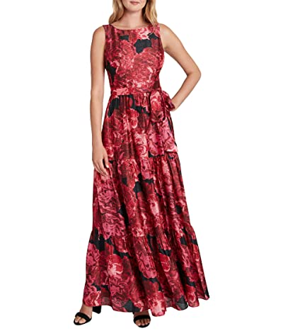 Tahari by ASL Petite Sleeveless Tiered Maxi Dress Women