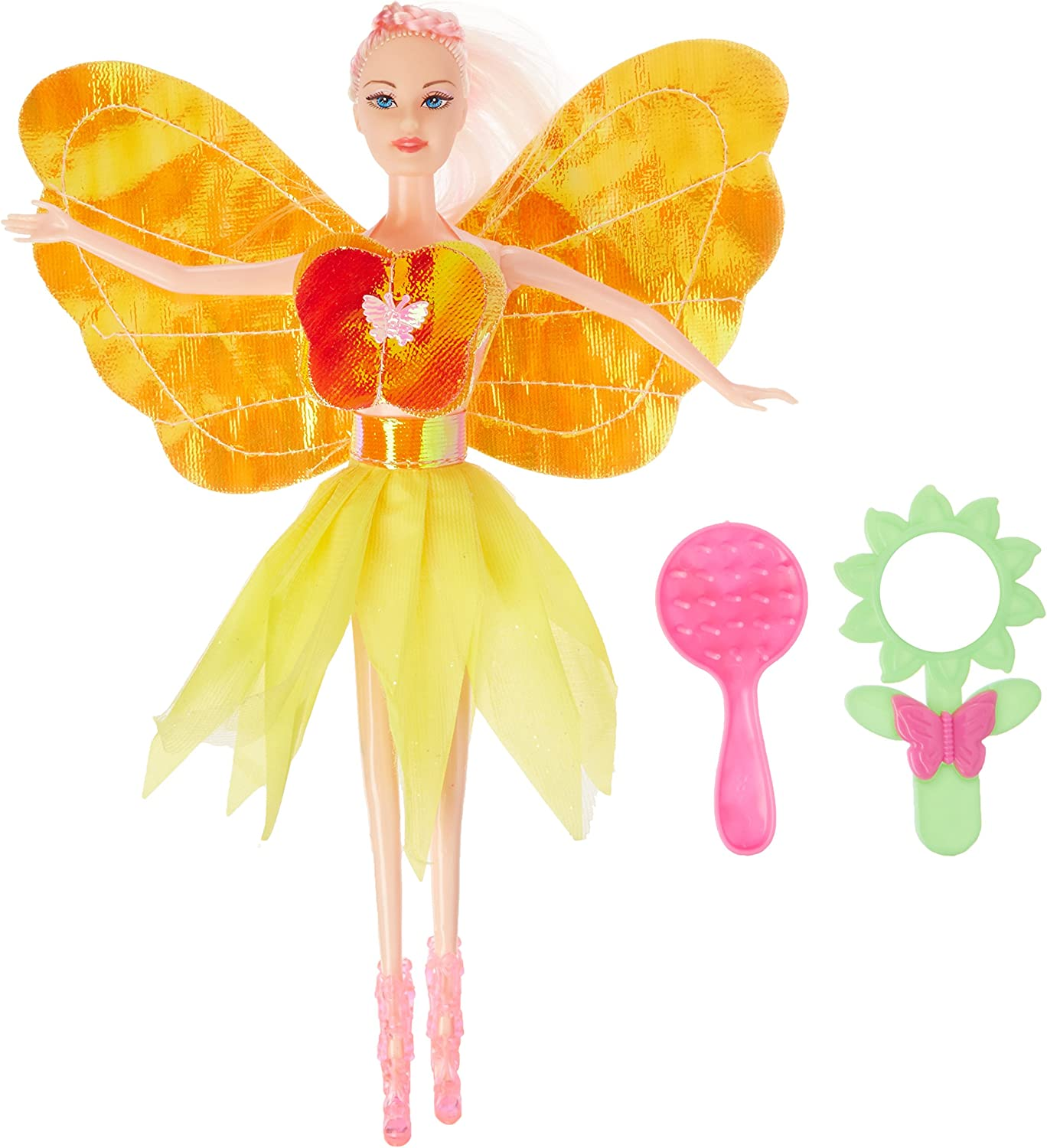 Kole Fashion Doll with Butterfly Dress & Accessories