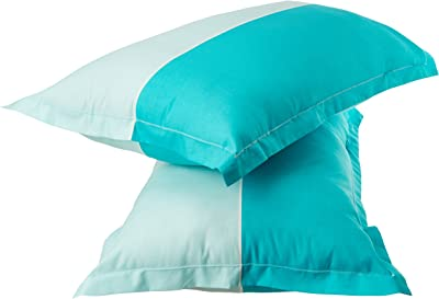 Amazon Brand - Solimo Floral Foliage 144 TC 100% Cotton Double Bedsheet with 2 Pillow Covers, Teal