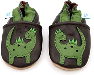 Dotty Fish Soft Sole Leather Baby Shoes Boys pre-Walkers