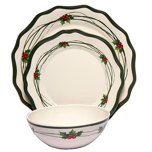 Melamine Christmas Dinnerware: Amazon.com