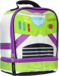 Toy Story Buzz Lightyear Dual Compartment Insulated Light Up Lunch Bag Tote
