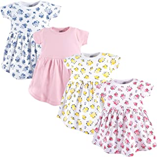 Baby Girls' Cotton Dress, 4 Pack