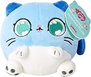 """Kitten Catfé Meowble Super Soft Scented Plush - Blue Gray Cat - """"Meowberry Scented"""" (Strawberry) 4"""" Round Kitten Ball Plus..."""