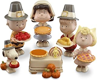 Lenox Thanksgiving Dinner Charlie Brown Figurines Peanuts 6 PC Snoopy Lucy Linus