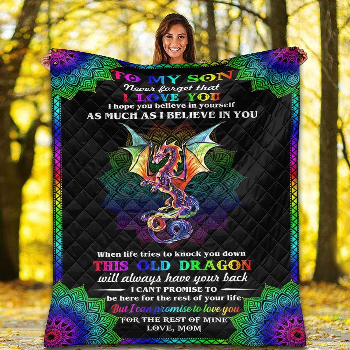 Colorful Dragon Finally resale start Mandala Quilt - to Believe in Y Free Shipping New Son My I