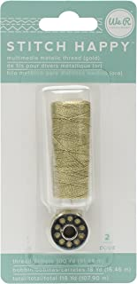 American Crafts We R Memory Keepers Stitch Happy 2 Piece Specialty Sewing Thread Metallic Gold