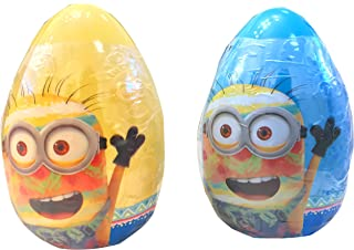 NEW Despicable Me Minions Jumbo Easter Eggs Set/ Includes Candy Bananas, Candy Rolls & Stickers