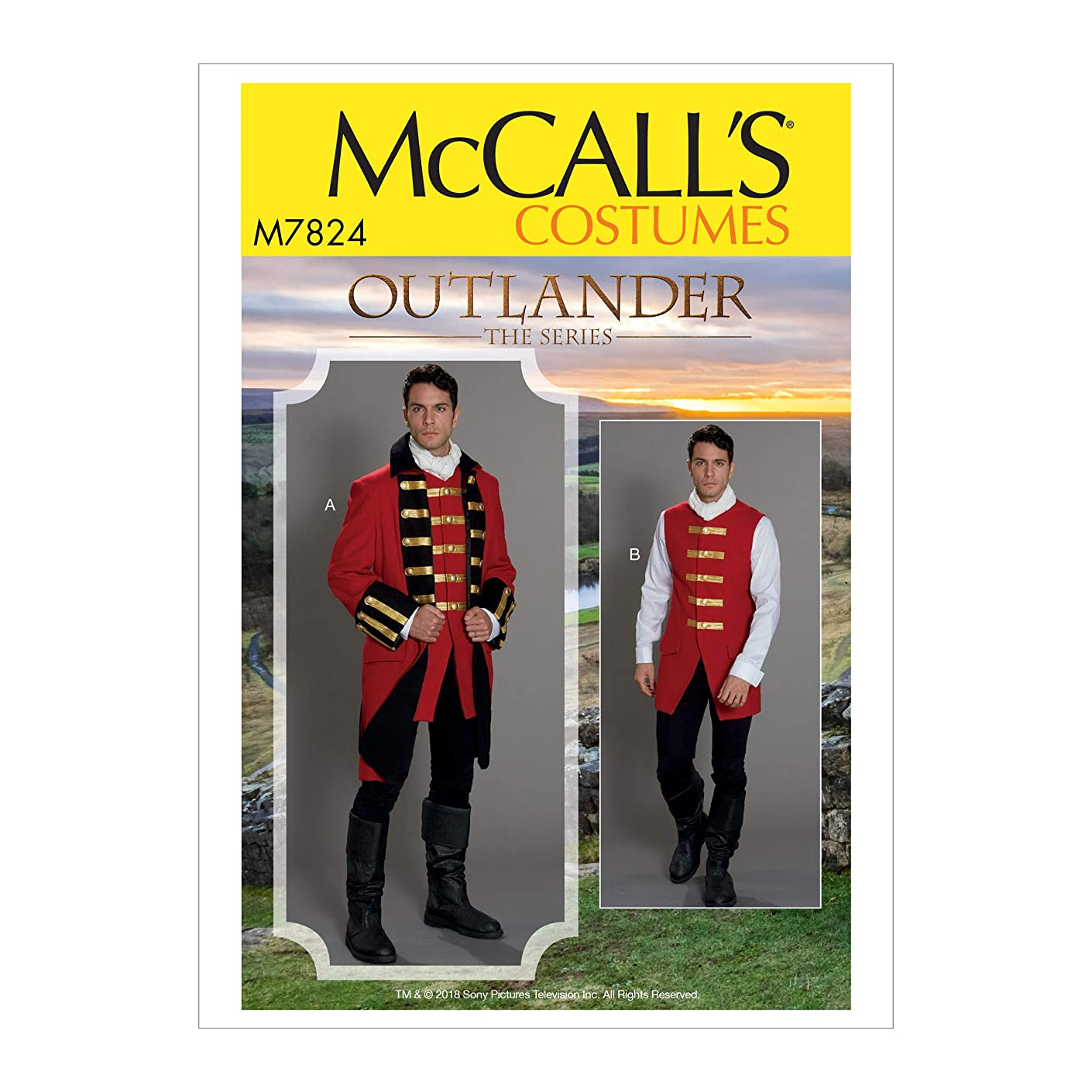 McCall's Patterns M7824MQQ MCC 7824 M7824 MQQ Mens' Costume from Outlander: The Series, Size 46-48-50-52?