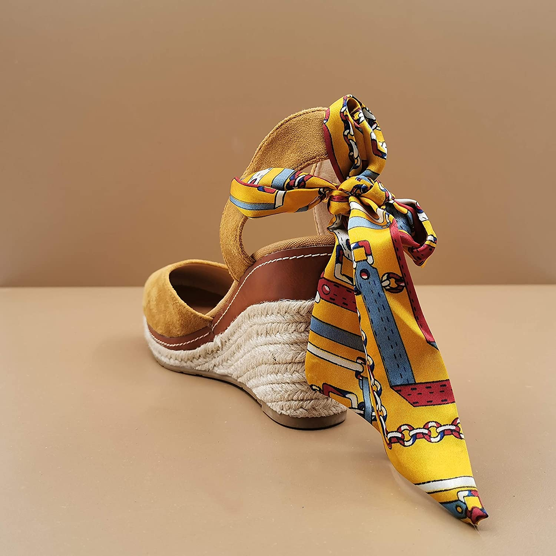 Zapatillas Moda Sandalias Alpargata Bohemia Folk//Etnico rom/ántico Mujer Cuerda la Jaula Plataforma 10 CM Angkorly