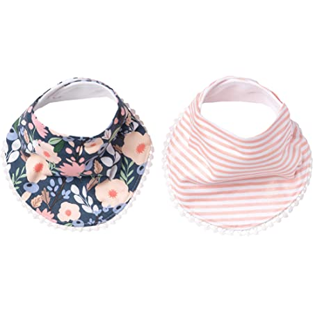 Baby Reversible Cotton Blend Bib Vintage Style One Size 1-5 Year Old