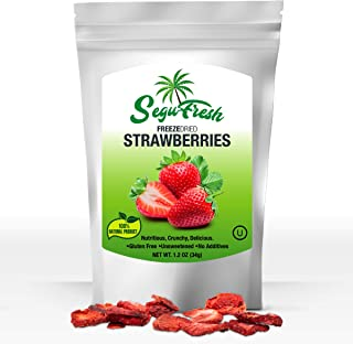 SeguFresh Freeze Dried Fruits Strawberries 100% Natural Food Product Nutritious and Delicious Gluten-Free &Vegan Unsweeten...