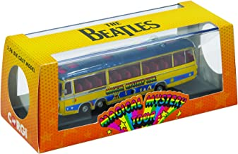 Corgi CC42418 The Beatles Magical Mystery Tour Bus 1:76 Scale Die-Cast Model, Yellow/Blue