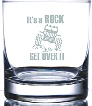 It's a Rock ! A Favorite shout! Laser Etched Engraved Rocks Glass | 11 Ounce Whiskey Bourbon Glass