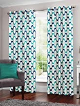 Story at Home Window Curtain, Blue, 118 x 152 cm, WNR4023, 2 Pieces