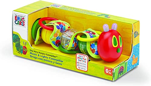 minorista de fitness World of Eric Carle, The Very Very Very Hungry Caterpillar Wiggly Rattle Toy with Music and Lights by Kids Preferrojo by The World of Eric Carle  mejor marca