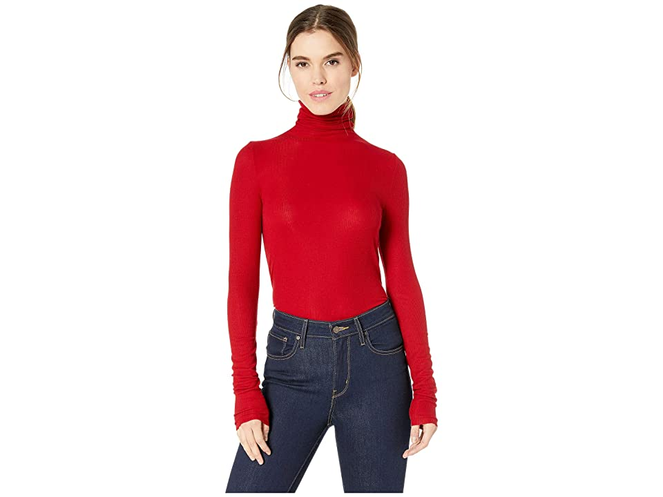 Image of AG Adriano Goldschmied Chels Turtleneck (Red Amaryllis) Women's Clothing