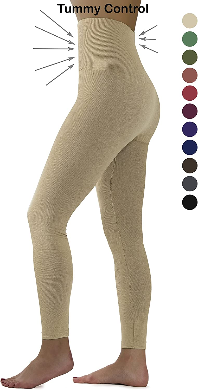 Ylluo Premium Tummy Support Slimming Leggings Thick High Waist Fleece and Non Fleece