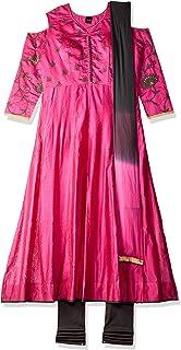 SOCH Women's cotton anarkali Salwar Suit Set NC CD 1595-DK PINK-GREY_Dk 2xl