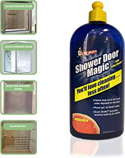 Chomp SCA Shower Hard Water Bathroom Gel Cleaner Shield for Glass, Fiberglass Door to Remove Hardwater Stains, Soap Scum, Calcium, Lime Scale, Grime-Citrus Grapefruit
