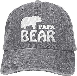 Papa Bear Sports Denim Cap Adjustable Snapback Unisex Plain Baseball Cowboy Hat