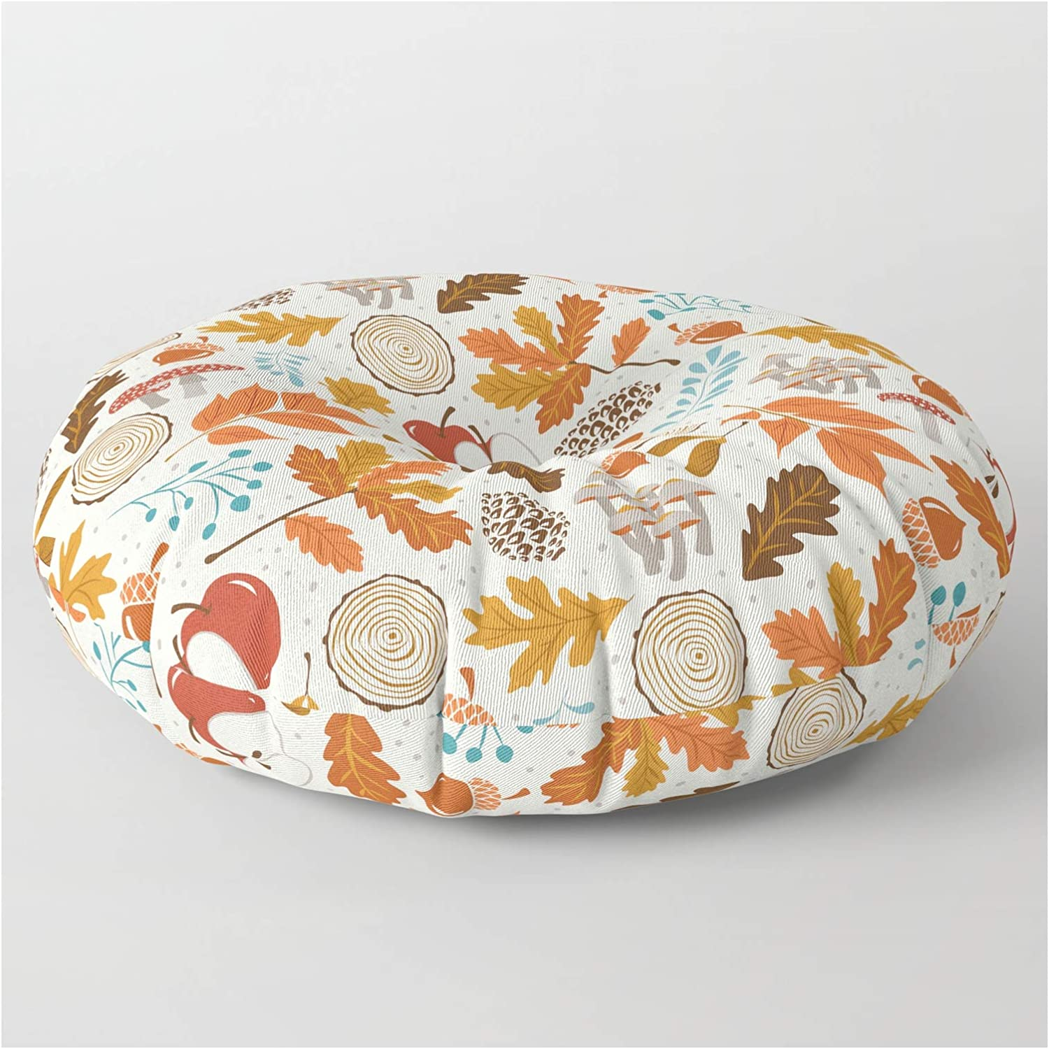 Society6 Autumn Woods by Trust New product! New type Heather Dutton Floor Round Pillow on -