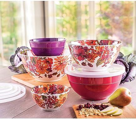Melamine 10-Piece Mixing Bowl Set - Floral