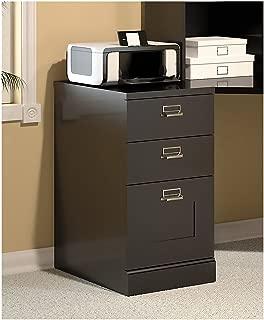 Bush Furniture Stockport 3 Drawer File Cabinet in Classic Black