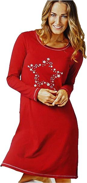 Tcm Tchibo Damen Nachthemd Nachtwasche Rot M Weiche Single Jersey Qualitat Amazon De Bekleidung