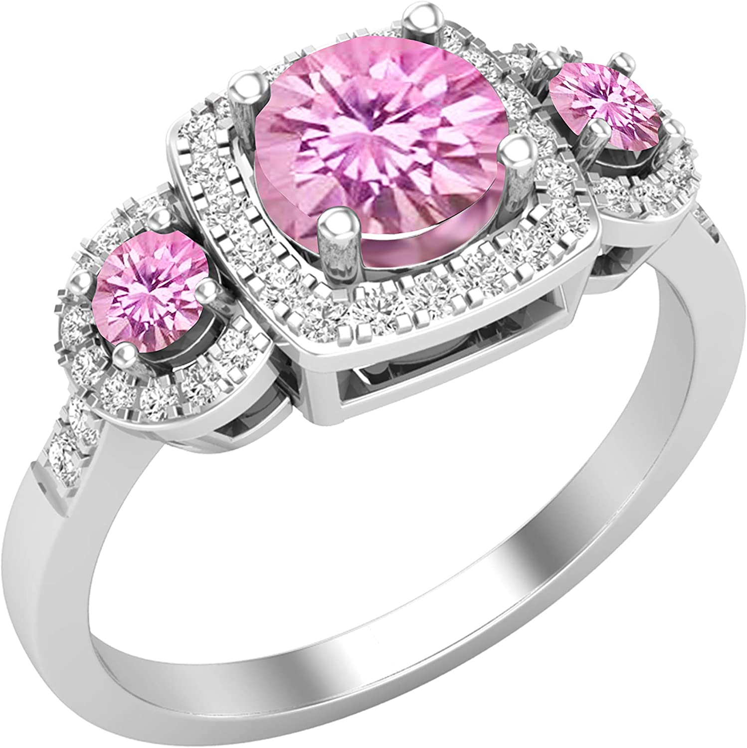 Dazzlingrock Collection Round security Finally popular brand Lab Natura Created Pink Sapphire