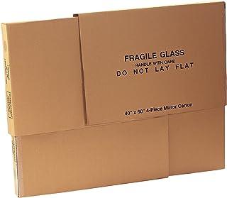 "Mirror Boxes, 4-Piece, 40"" x 60"" x 3 1/2"" 1 Piece of 40"" x 60"", Kraft (1 Set of 4 Pieces)"
