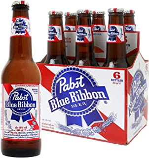 Pabst Blue Ribbon The American Original Lager, 355 ml (Pack of 6)