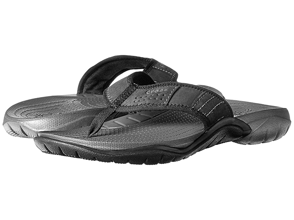 Crocs Swiftwater Flip (Graphite/Black) Men