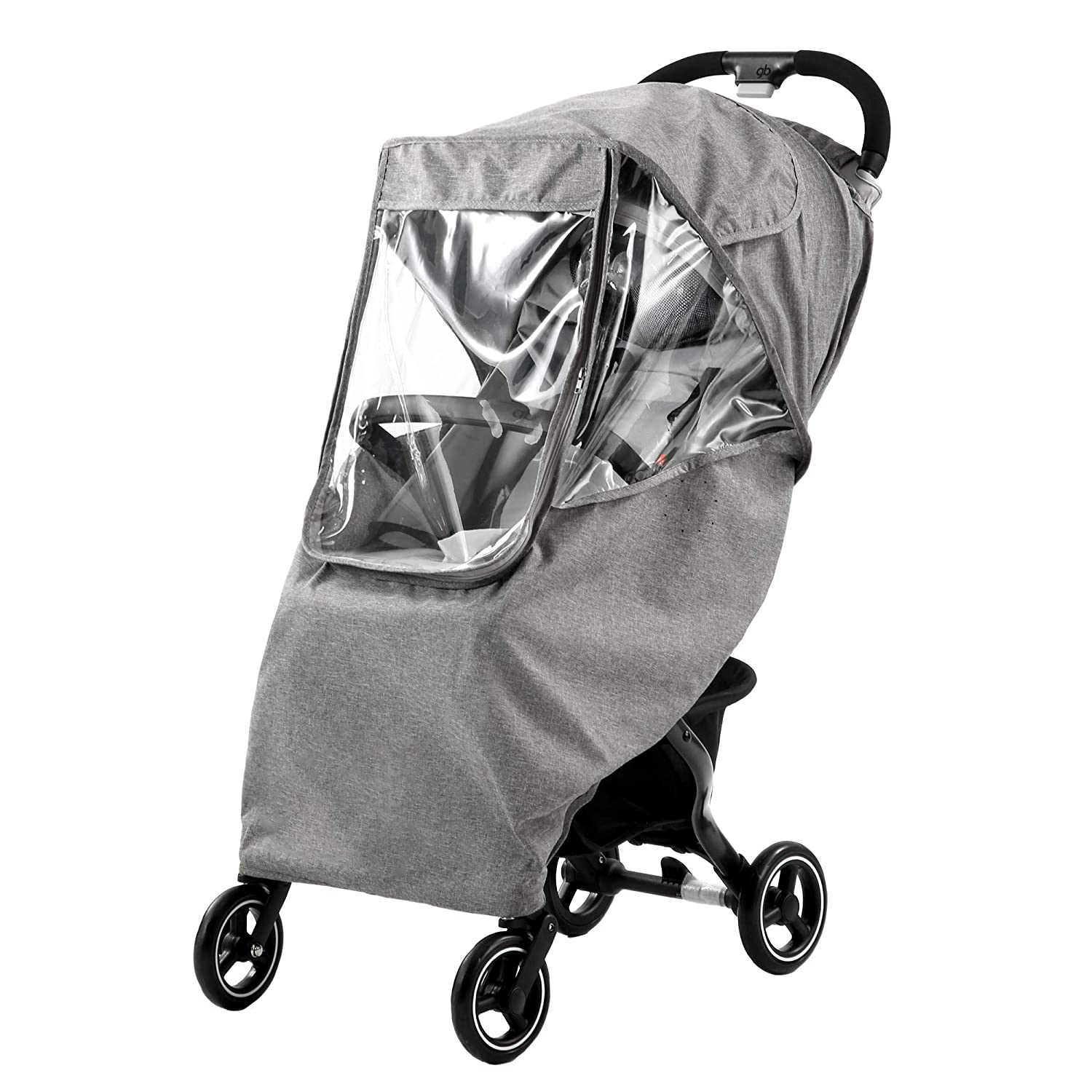 Baby Stroller Weather Shields, Pushchairs Accessories Strollers Breathable Raincoat, Stroller Rain Cover Universal, Protect from Rain Snow Dust Insects Waterproof Windproof (Gray)