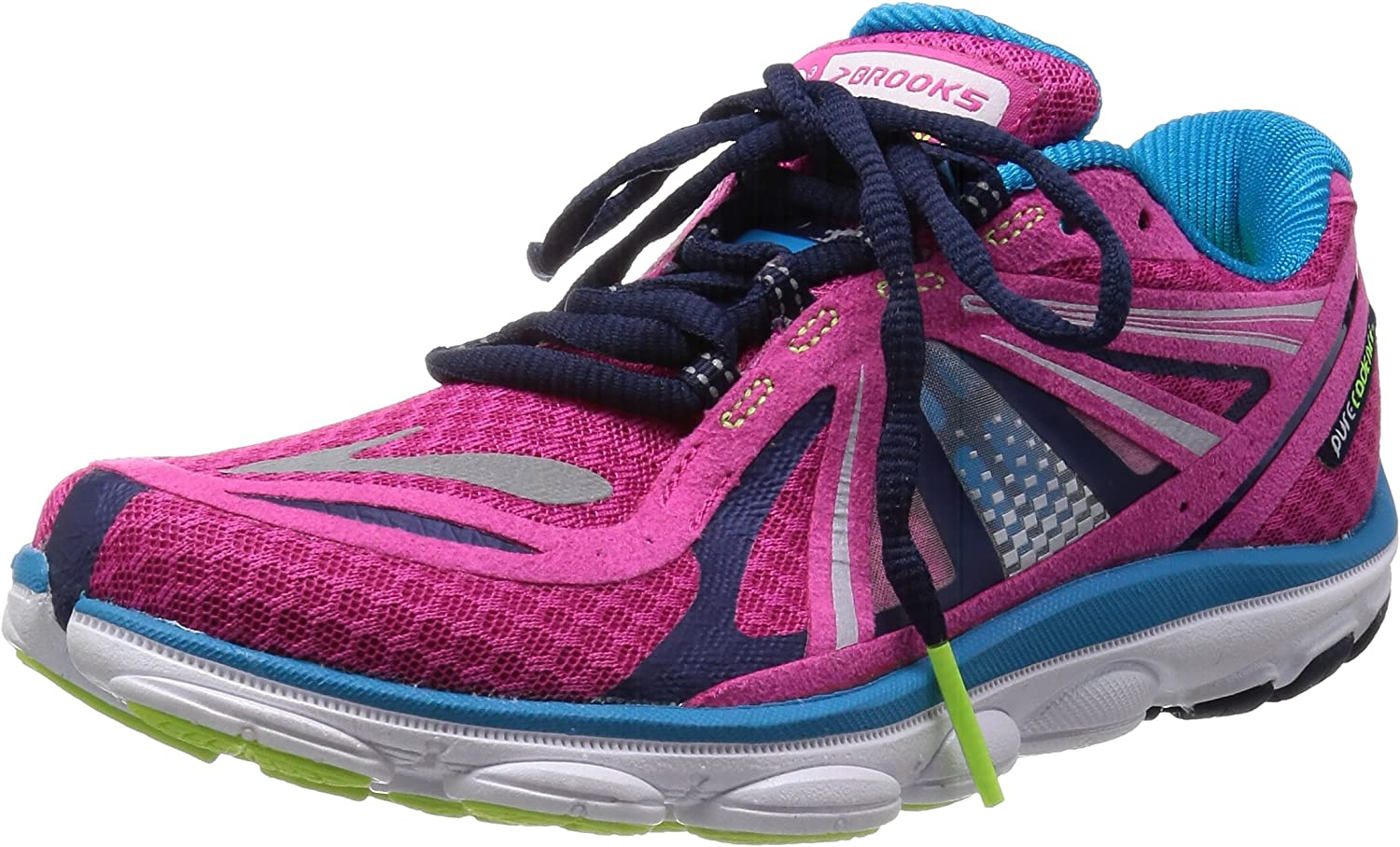 Brooks Womens PureCadence 3 Chaussure De Running shoes,Shocking Pink bluee,6.5 US