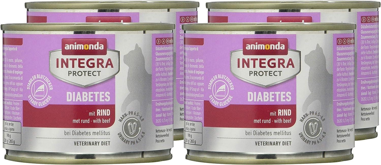 animonda Integra Protect Diabetes para gatos, comida dietética para gatos, comida húmeda para gatos con diabetes mellitus, con hígado de pollo, 16 x ...