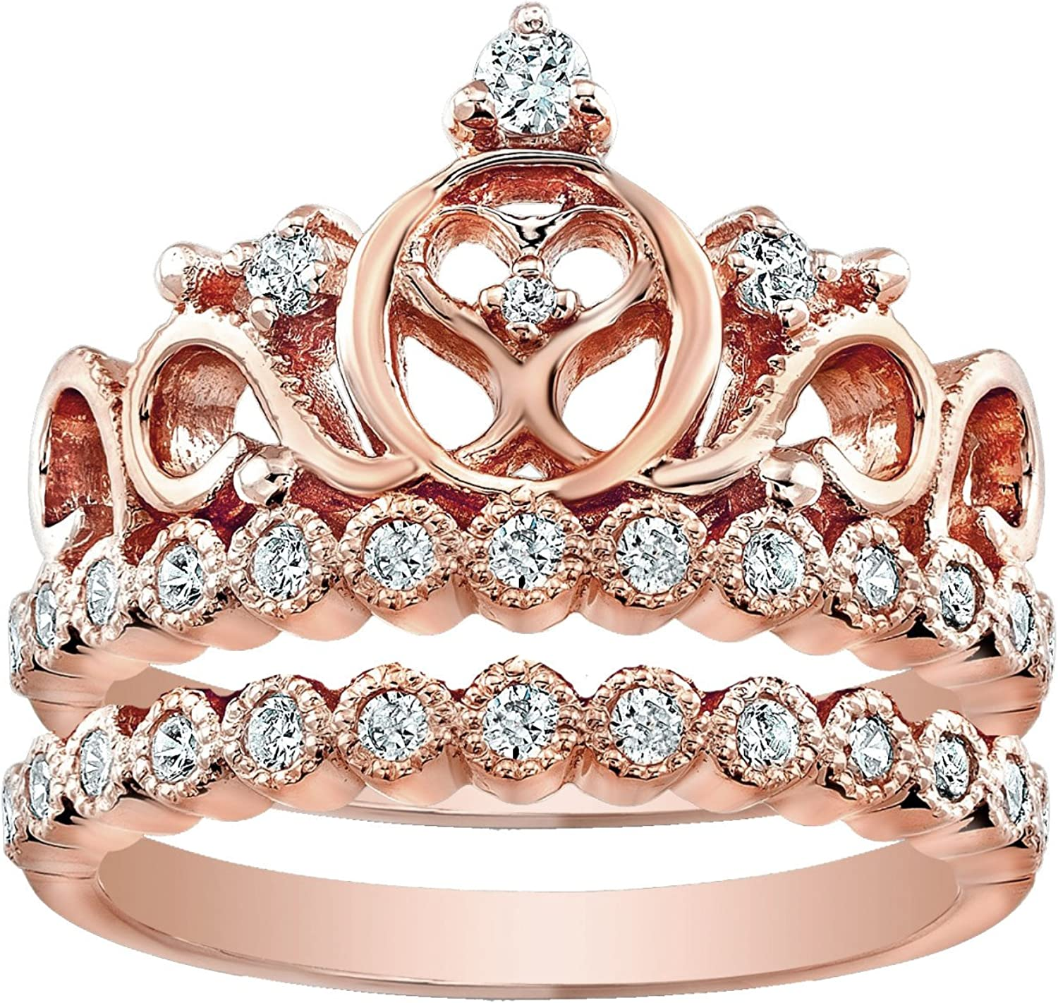 Guliette Verona Sterling 2021 model Silver Reservation Heart Crown Set Ring and R Band