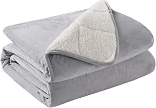 Degrees of Comfort Softest Fuzzy Weighted Throw Blanket, Thick Sherpa & Berber Fleece Blankets Pilling Proof, Durable, Soft & Fluffy Throws 10LB 50x60 Gray