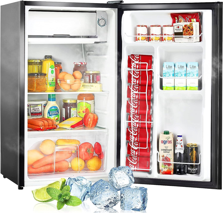 Buy Mini Fridge with Freezer, 9.9 cu.ft Super Quiet Compact ...