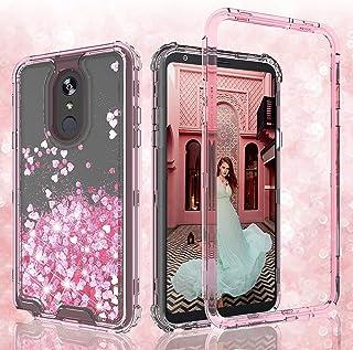 Liquid Glitter Case for LG Prime 2/Aristo 4+/K30 2019/Escape Plus/Arena 2/Tribute Royal/X2/Journey LTE Case Heavy Duty -