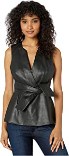 BCBGMAXAZRIA Women's Faux Leather Top