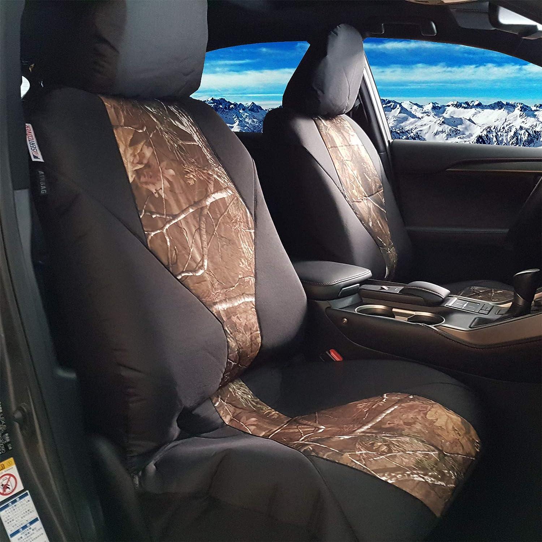 mycardeco New 2pcs Front Unique Outlet Excellence sale feature Design Sea Canvas Black Car CAMO