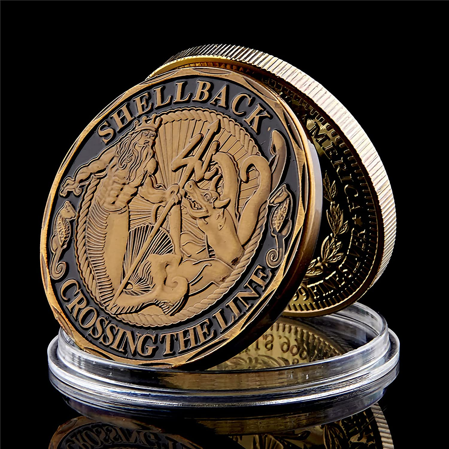 Challenge Coin New product type USA Navy Shellback Crossing Line US The service Sailor So