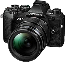 Olympus OM-D E-M5 Mark III Micro Four Thirds Systemkamera Kit (20 MP Sensor, 5-Achsen Bildstabilisator, Autofokus, elektronischer OLED Sucher, 4K-Video, WLAN, schwarz) + 12-40mm M.Zuiko PRO Objektiv