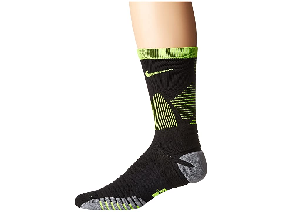 Nike Strike Mercurial Soccer (Black/Volt/Volt) Crew Cut Socks Shoes
