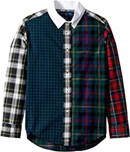 Plaid Cotton Poplin Fun Shirt (Little Kids/Big Kids)